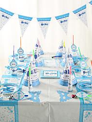 Aniversário Festa Tableware-6Peça/Conjunto Conjuntos de Toalhas de Mesa Marcador Papel de Cartão Tema Clássico Other Não-Personalizado
