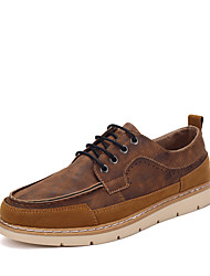 Men's Oxfords / Comfort / Pointed Toe Cowhide / Nappa Leather Wedding / Office & Career / Casual Low Heel