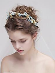 MISS DIVA Women's Alloy Headpiece Headbands 1 Piece Blue Flower 55