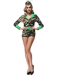 Women's Camouflage Jumpsuit Halloween Costume