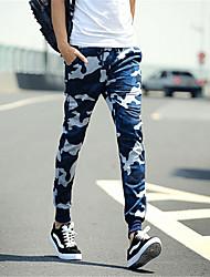Pantalon de Sport Pour des hommes Camouflage Décontracté / Sport Polyester Bleu / Vert