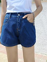 Women's Solid Blue Jeans / Shorts Pants,Simple