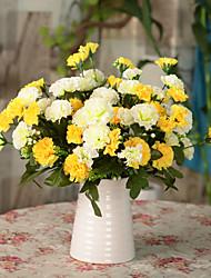 1pc 1 Ramo Poliéster / Plástico Cravo Flor de Mesa Flores artificiais 11.8inch/30CM