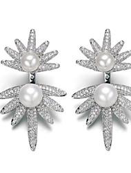 Boucle Others Bijoux 1 paire Mode Quotidien / Décontracté Imitation de perle Femme Argent