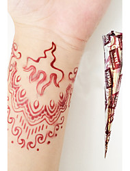 Halloween Natural Herbal Henna Temporary Mehandi Tattoo Cones Body Art VERSHA(Red)