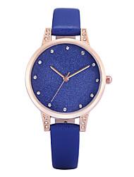 Femme Montre Tendance / Bracelet Montre Quartz Imitation de diamant PU Bande Charme / Pour tous les joursNoir / Blanc / Bleu / Gris /