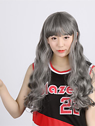 """Synthetic Wigs 28"""" Long Gray Wig Curly Drag Queen Heat Resistant Cheap Fake Hair African American afro wig"""