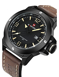 NAVIFORCE Men's Military Watch Fashion Watch Wrist watch Calendar Water Resistant / Water Proof Quartz Japanese Quartz Leather BandCool