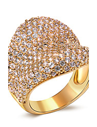 Unique Jewelry 18k Gold Plated Wedding rings for women 257 pcs of CZ Unique Design Women rings