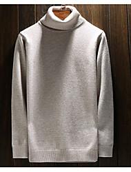 Herren Standard Pullover-Lässig/Alltäglich Solide Langarm Baumwolle Winter
