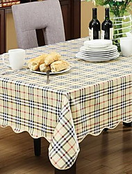 Rural Grid Cloth Waterproof And Oil Cloth