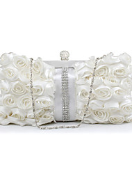 L.WEST Women's Handmade Flower Diamonds Evening Bag