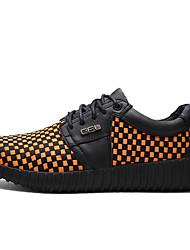 Herren-Sneaker-Outddor / Büro / Lässig-Leder-Flacher Absatz-Rundeschuh / Flache Schuhe-Schwarz / Blau / Orange