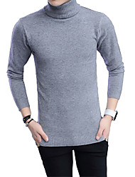 Autumn and winter men's new sweater hedging Korean cultivating trend of men's youth warm turtleneck