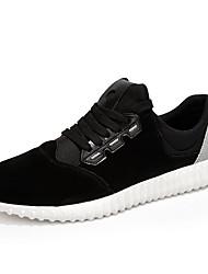 Femme-Décontracté / Sport-Noir / Gris-Talon Plat-Bout Arrondi / Ballerines-Sneakers-Daim