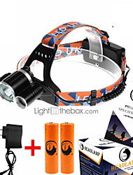 U'King ZQ-X823 Headlamps Headlamp Straps LED 9000LM Lumens 4 Mode Cree XM-L T6 2 x 18650 Batteries Compact Size High Power Easy Carrying