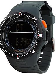 orologio sportivo Da uomo / Da donna / UnisexLCD / Altimetro / Compass / Pulsometro / Termometri / Calendario / Due fusi orari / Orologio