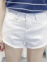 Pantalon Aux femmes Short / Jeans simple / Actif Coton / Polyester Micro-élastique
