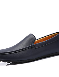 British Style Men's Business Leather Shoes Casual Slip-on Men's flats&Loafers for PartyWedding of Men's Dress Shoes