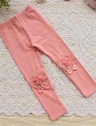 Girl's Cotton Spring/Autumn Classic Fashion Cute Lace Leggings Popular Pants