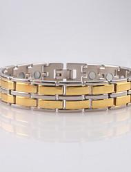 Men's/Women's Circle Golden Titanium Steel Chain Bracelets 1PC