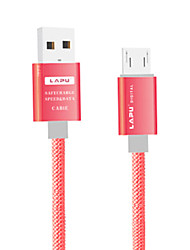 Micro USB 3.0 Normal Cable Para Huawei Sony Nokia HTC Motorola LG Xiaomi 100 cm Nailon