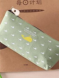 Printed Canvas South Korean Students Stationery Owl Pen Bag