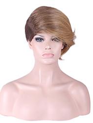 Perrruque de Déguisement Synthétique Fabriqué à la machine Perruques Court Blonde Cheveux
