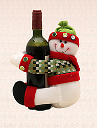 1pc Merry Christmas Stripe Snowman Wine Bottle Towel Holder Table Decoration Home Dinner Party Supplies