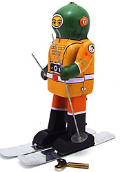 Novelty Toy Puzzle Toy Educational Toy  Wind-up Toy Puzzle Toy  Warrior  Robot Metal Yellow For Kids