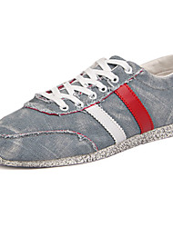 Women's Shoes Canvas Fall Flats Sneakers Athletic Flat Heel Others Blue / Gray Sneaker