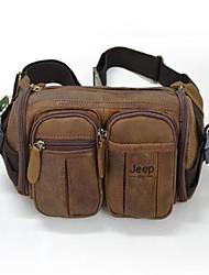 Men Waist Bag PU Casual Brown