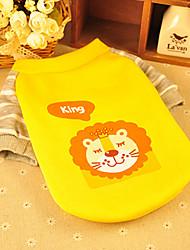 Hund T-shirt Hundekleidung Modisch Kartoon Gelb