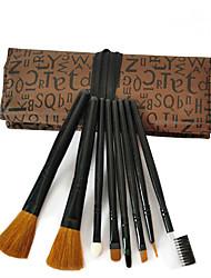 8pçs Conjuntos de pincel Escova de Cabelo de Cabra Profissional / Cobertura Total Metal Rosto Outros