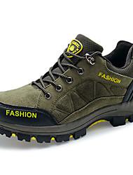 Femme-Sport-Marron / Vert / Gris-Talon Plat-Bout Arrondi-Sneakers-Polyuréthane