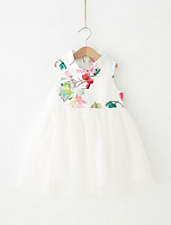 Girl's Casual/Daily Print DressOthers Summer Multi-color / White