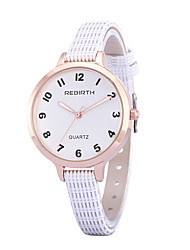 REBIRTH Dámské Módní hodinky Náramkové hodinky Hodinky na běžné nošení Křemenný / PU Kapela Běžné nošení Černá Bílá Červená Hnědá Růžová