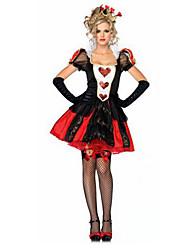 Costumes Vampire / Ange et Diable Halloween / Noël / Carnaval Rouge / Noir Vintage Térylène Robe / Gants / Coiffure