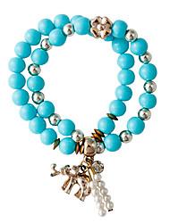 Armbanden met ketting en sluiting 1 stuks,PERSOONLIJKHEID Cirkelvorm Blauw Strass Sieraden Gifts