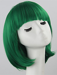 Bob Women Short Wigs Green Ladies Synthetic Wigs Women Short Straight Hair Cosplay Wigs