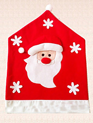 1pc Lovely Christmas Santa Claus Snowflake Chair Cover Decoration Half Stereoscopic Chair Hat Home Supplies