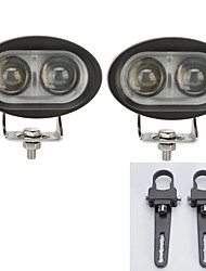 2PCS 20W LED Cree Light Bars Driving Offroad SUV ATV with 2X 1.25 Inch Mounting Brackets