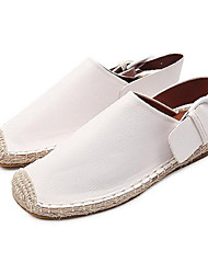 Women's Sandals Summer Leatherette Outdoor Flat Heel Others White Others