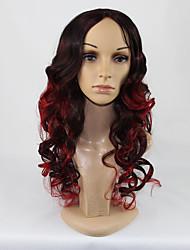 peruca vinho tinto ondulação natural sexy beleza clube das mulheres durante a noite