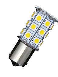 2 x carro rv branco morno 1156 BA15S 27-SMD reversa 5050 turno sinal lâmpadas led