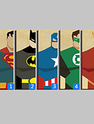 E-HOME® Stretched Canvas Art  Super Hero Series Decoration Painting  One Pcs