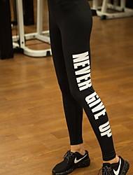 Pantalones de yoga Pantalones/Sobrepantalón Transpirable / Compresión Cintura Media Eslático Ropa deportiva Negro Mujer Deportes Yoga