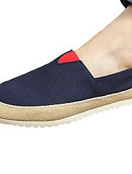 Herren-Flache Schuhe-Lässig-Leinwand-Flacher AbsatzBlau Grau