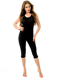 Women's Color Block Cut Out Jumpsuits,Active Round Neck Sleeveless