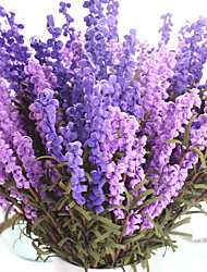 1 1 Ramo Poliéster Lavanda Flor de Mesa Flores artificiais 43CM